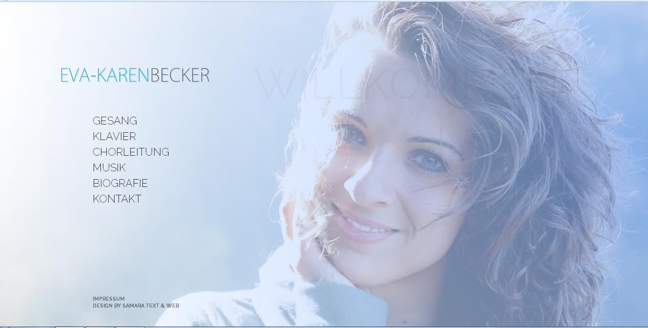 Online: Homepage für die Musikerin Eva-Karen Becker