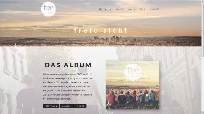 Die Dresdner Band Traum von Eden ist nun online